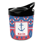 Buoy & Argyle Print Plastic Ice Bucket (Personalized)
