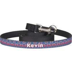 Buoy & Argyle Print Pet / Dog Leash (Personalized)