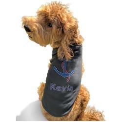 Buoy & Argyle Print Black Pet Shirt - XL (Personalized)