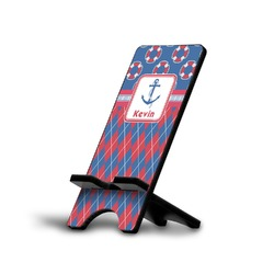 Buoy & Argyle Print Phone Stand (Personalized)