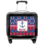 Buoy & Argyle Print Pilot / Flight Suitcase (Personalized)