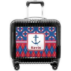 Buoy & Argyle Print Pilot / Flight Suitcase (Personalized)