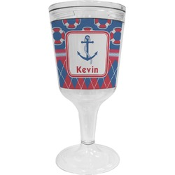 Buoy & Argyle Print Wine Tumbler (Personalized)
