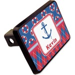 """Buoy & Argyle Print Rectangular Trailer Hitch Cover - 2"""" (Personalized)"""