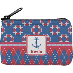 Buoy & Argyle Print Rectangular Coin Purse (Personalized)