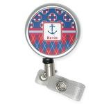 Buoy & Argyle Print Retractable Badge Reel (Personalized)