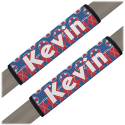 Buoy & Argyle Print Seat Belt Covers (Set of 2) (Personalized)