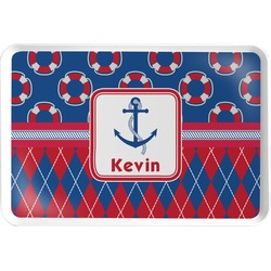 Buoy & Argyle Print Serving Tray (Personalized)