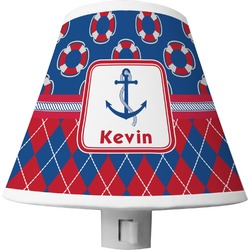 Buoy & Argyle Print Shade Night Light (Personalized)