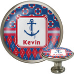 Buoy & Argyle Print Cabinet Knobs (Personalized)