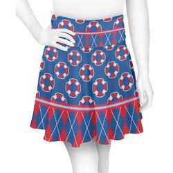 Buoy & Argyle Print Skater Skirt (Personalized)