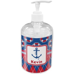 Buoy & Argyle Print Soap / Lotion Dispenser (Personalized)