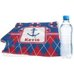 Buoy & Argyle Print Sports & Fitness Towel (Personalized)