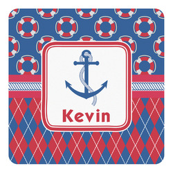 Buoy & Argyle Print Square Decal (Personalized)