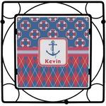 Buoy & Argyle Print Square Trivet (Personalized)