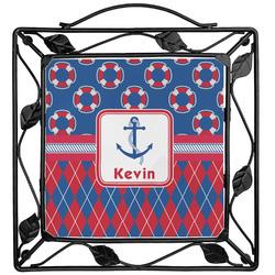 Buoy & Argyle Print Trivet (Personalized)
