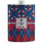 Buoy & Argyle Print Stainless Steel Flask (Personalized)