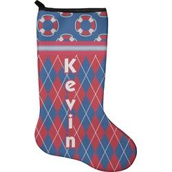Buoy & Argyle Print Holiday Stocking - Neoprene (Personalized)