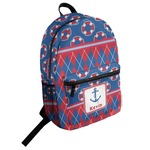 Buoy & Argyle Print Student Backpack (Personalized)