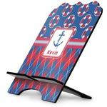 Buoy & Argyle Print Stylized Tablet Stand (Personalized)