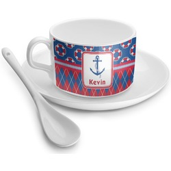 Buoy & Argyle Print Tea Cup - Single (Personalized)