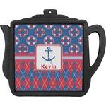 Buoy & Argyle Print Teapot Trivet (Personalized)