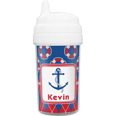 Buoy & Argyle Print Toddler Sippy Cup (Personalized)