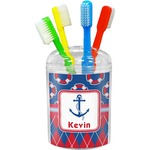 Buoy & Argyle Print Toothbrush Holder (Personalized)