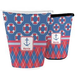 Buoy & Argyle Print Waste Basket (Personalized)