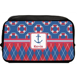 Buoy & Argyle Print Toiletry Bag / Dopp Kit (Personalized)