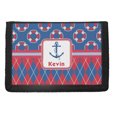 Buoy & Argyle Print Trifold Wallet (Personalized)