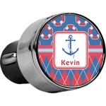 Buoy & Argyle Print USB Car Charger (Personalized)