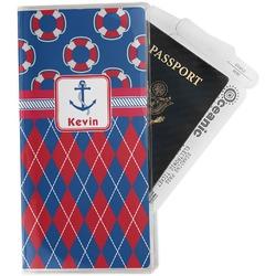 Buoy & Argyle Print Travel Document Holder
