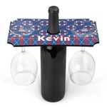 Buoy & Argyle Print Wine Bottle & Glass Holder (Personalized)