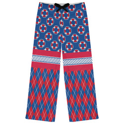 Buoy & Argyle Print Womens Pajama Pants (Personalized)