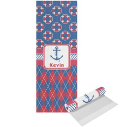 Buoy & Argyle Print Yoga Mat - Printed Front (Personalized)