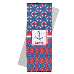 Buoy & Argyle Print Yoga Mat Towel (Personalized)