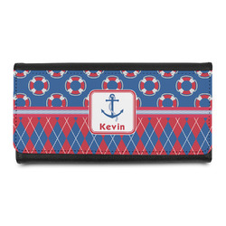 Buoy & Argyle Print Leatherette Ladies Wallet (Personalized)