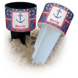 Buoy & Argyle Print Beach Spiker Drink Holder (Personalized)