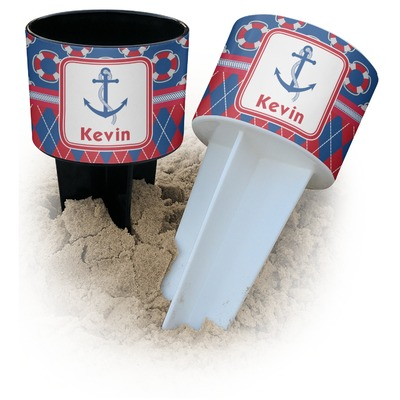 Buoy & Argyle Print Beach Spiker Drink Holder (Personalized)
