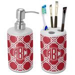 Celtic Knot Bathroom Accessories Set (Ceramic) (Personalized)