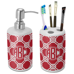 Celtic Knot Bathroom Accessories Set (Ceramic) (Personalized)