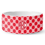 Celtic Knot Ceramic Dog Bowl (Personalized)
