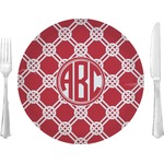"""Celtic Knot Glass Lunch / Dinner Plates 10"""" - Single or Set (Personalized)"""