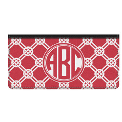 Celtic Knot Genuine Leather Checkbook Cover (Personalized)