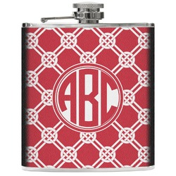 Celtic Knot Genuine Leather Flask (Personalized)