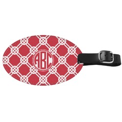 Celtic Knot Genuine Leather Oval Luggage Tag (Personalized)