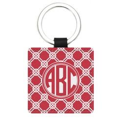 Celtic Knot Genuine Leather Rectangular Keychain (Personalized)