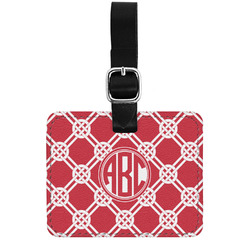 Celtic Knot Genuine Leather Luggage Tag w/ Monogram