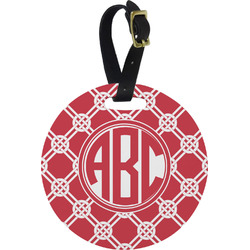 Celtic Knot Round Luggage Tag (Personalized)